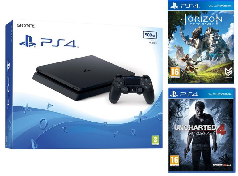 1TB Playstation 4 Console With 2 Games