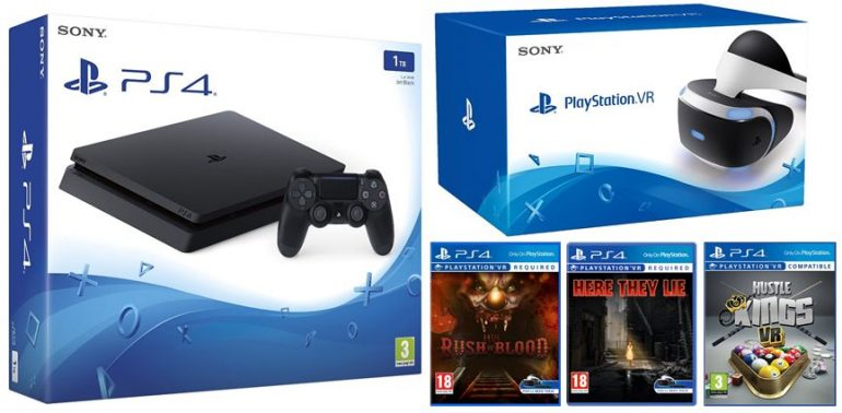 1TB Playstation 4 Console with VR Headset