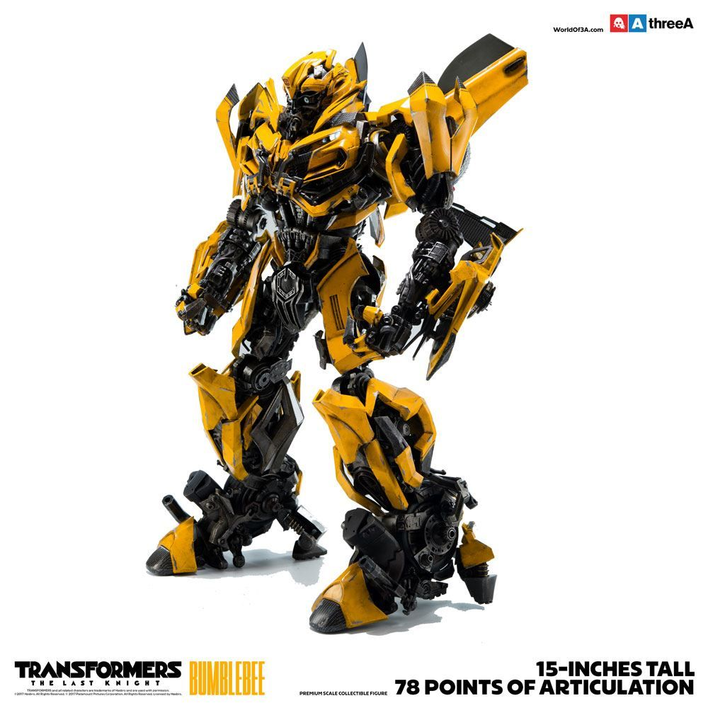 bumblebee transformers the last knight 1 6 scale threea action figure movie mania. Black Bedroom Furniture Sets. Home Design Ideas