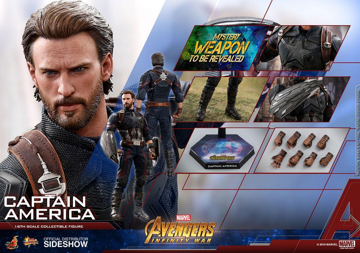 Avengers Infinity War - Captain America 1/6 Scale Movie ...