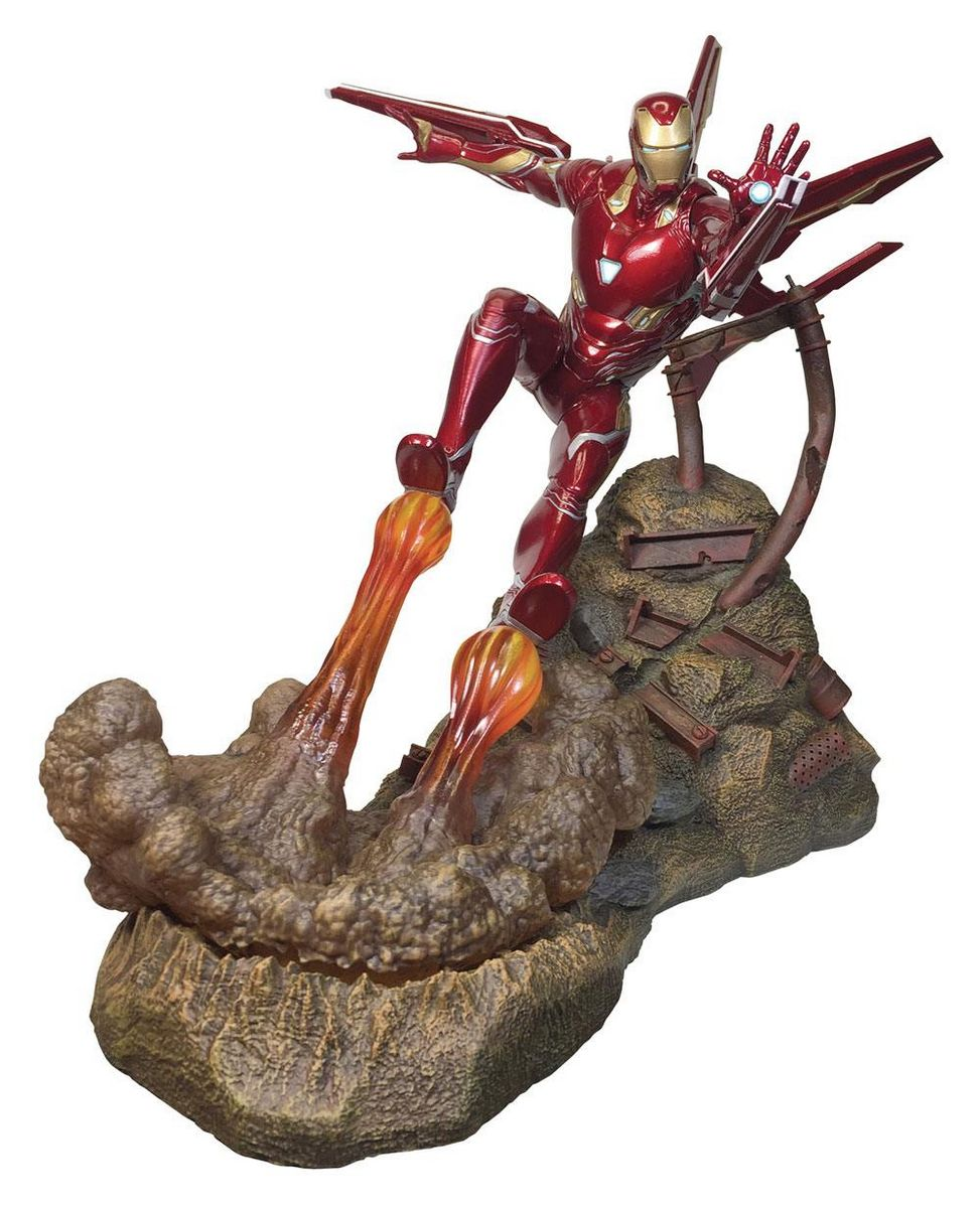 Avengers Infinity War Iron Man MK50 Diamond Select Marvel Movie Premier  Collection Statue