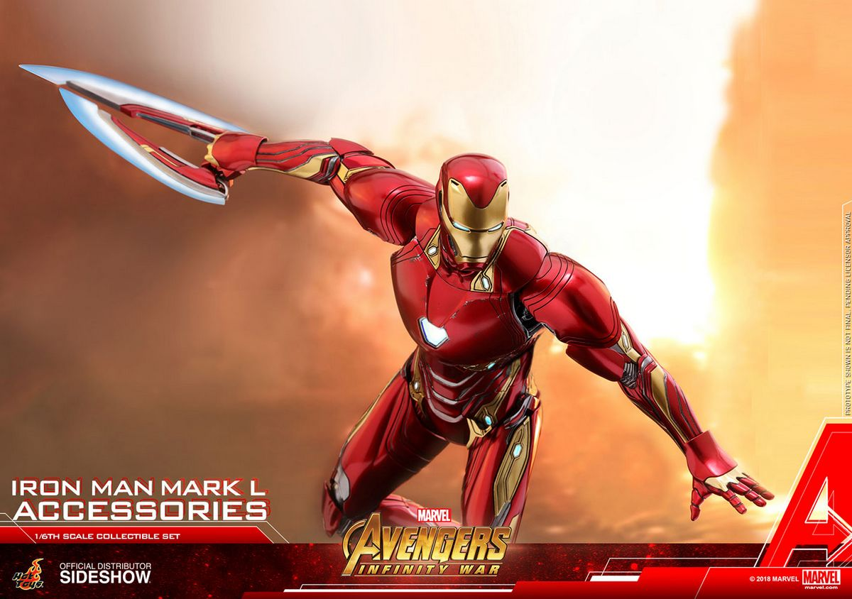 Avengers Infinity War Iron Man Mark L Accessories Hot Toys Accessories Collection Series
