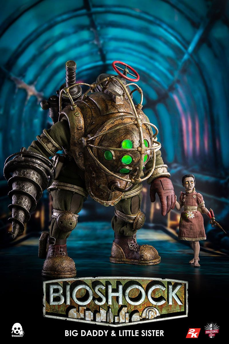BioShock - Big Daddy & Little Sister - ThreeZero 1/6 Scale 2-Pack Action  Figure