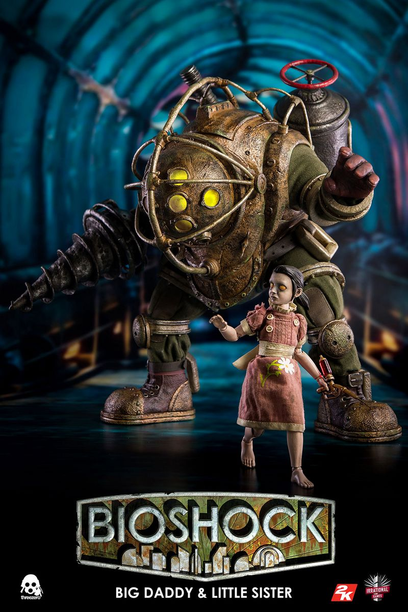 BioShock - Big Daddy & Little Sister - ThreeZero 1/6 Scale 2-Pack ...