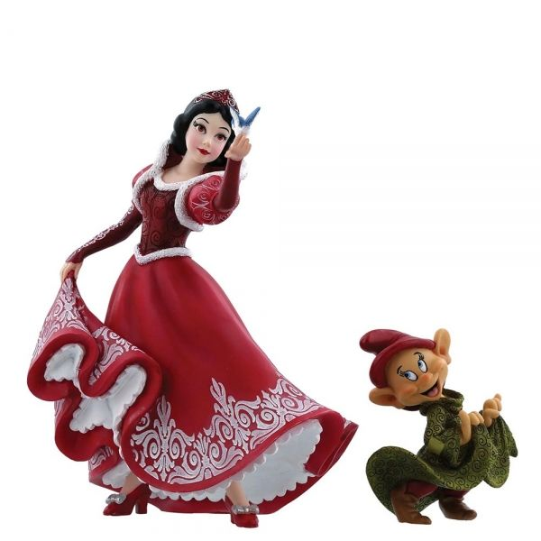 Snow White - Christmas Snow White and Dopey Figurine