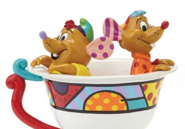 Cinderella - Jaq and Gus in Tea Cup Figurine