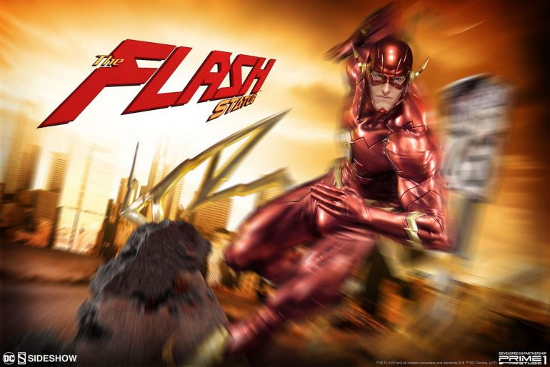 DC-Comics-The-Flash-Justice-League-New-52-Sideshow-Collectibles-Statue-Pic-1