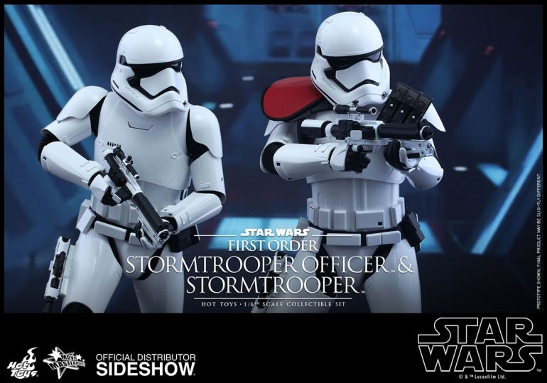 Star Wars Episode VII - First Order Stormtrooper and FOS Officer Hot Toys Action Figures