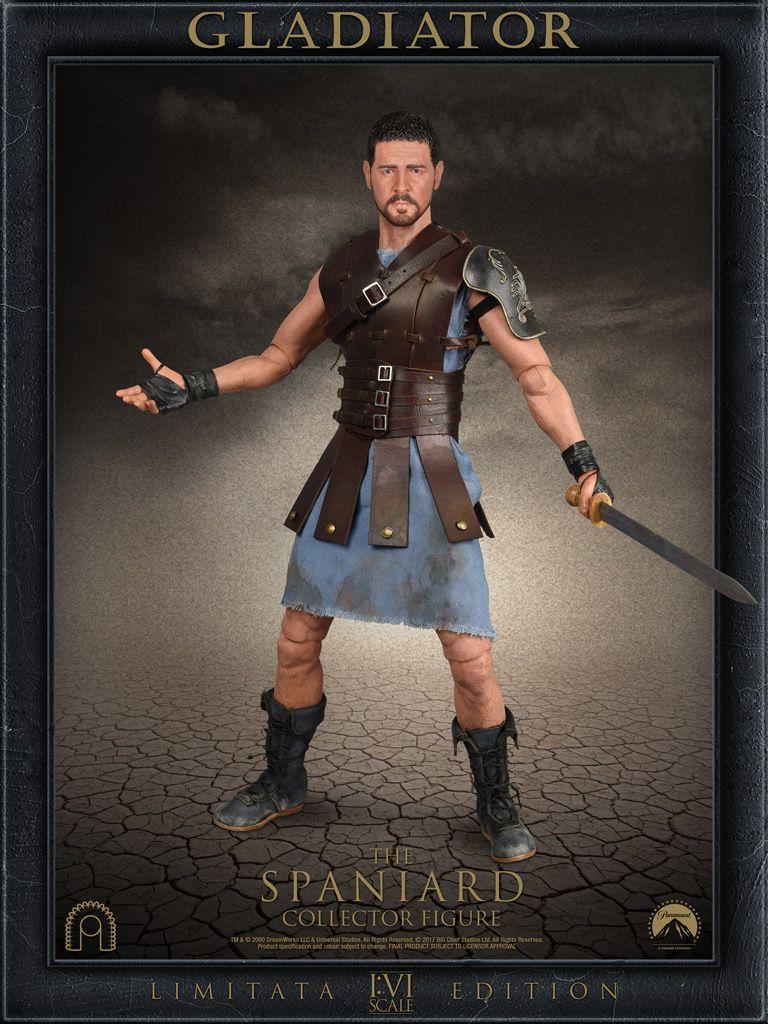 gladiator maximus the spaniard big chief 1 6 scale action figure