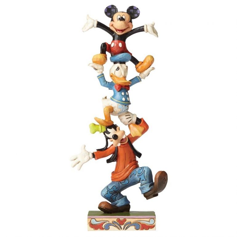 Goofy, Donald Duck and Mickey Mouse - Teetering Tower Figurine
