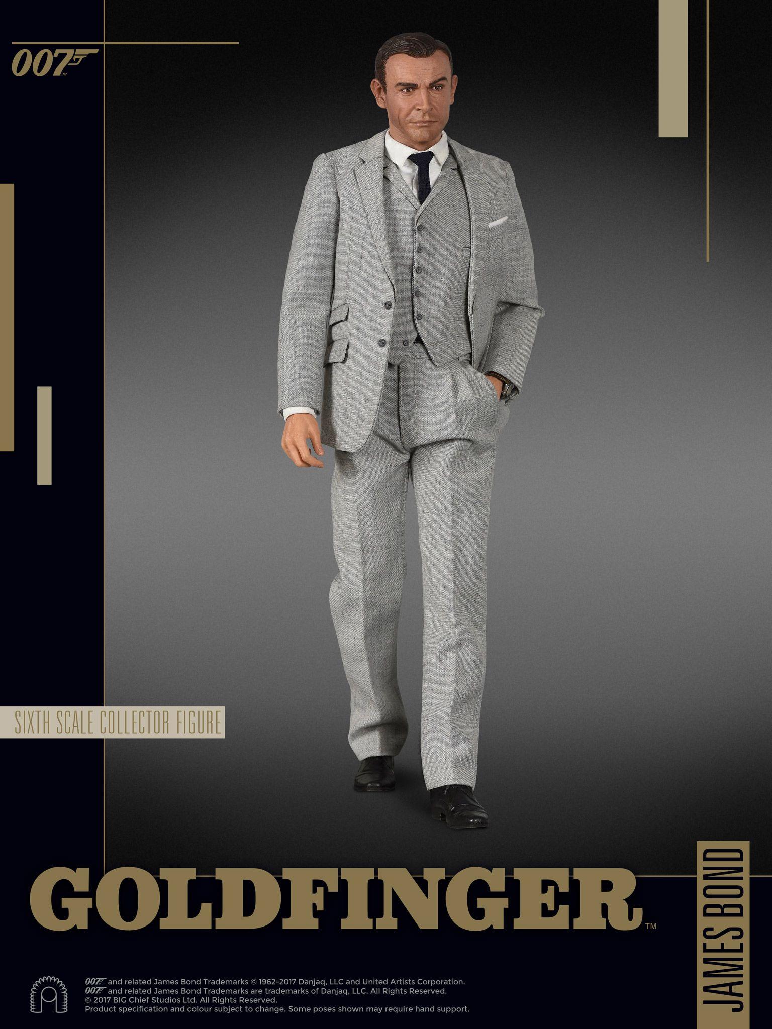 james bond goldfinger grey suit big chief 16 scale
