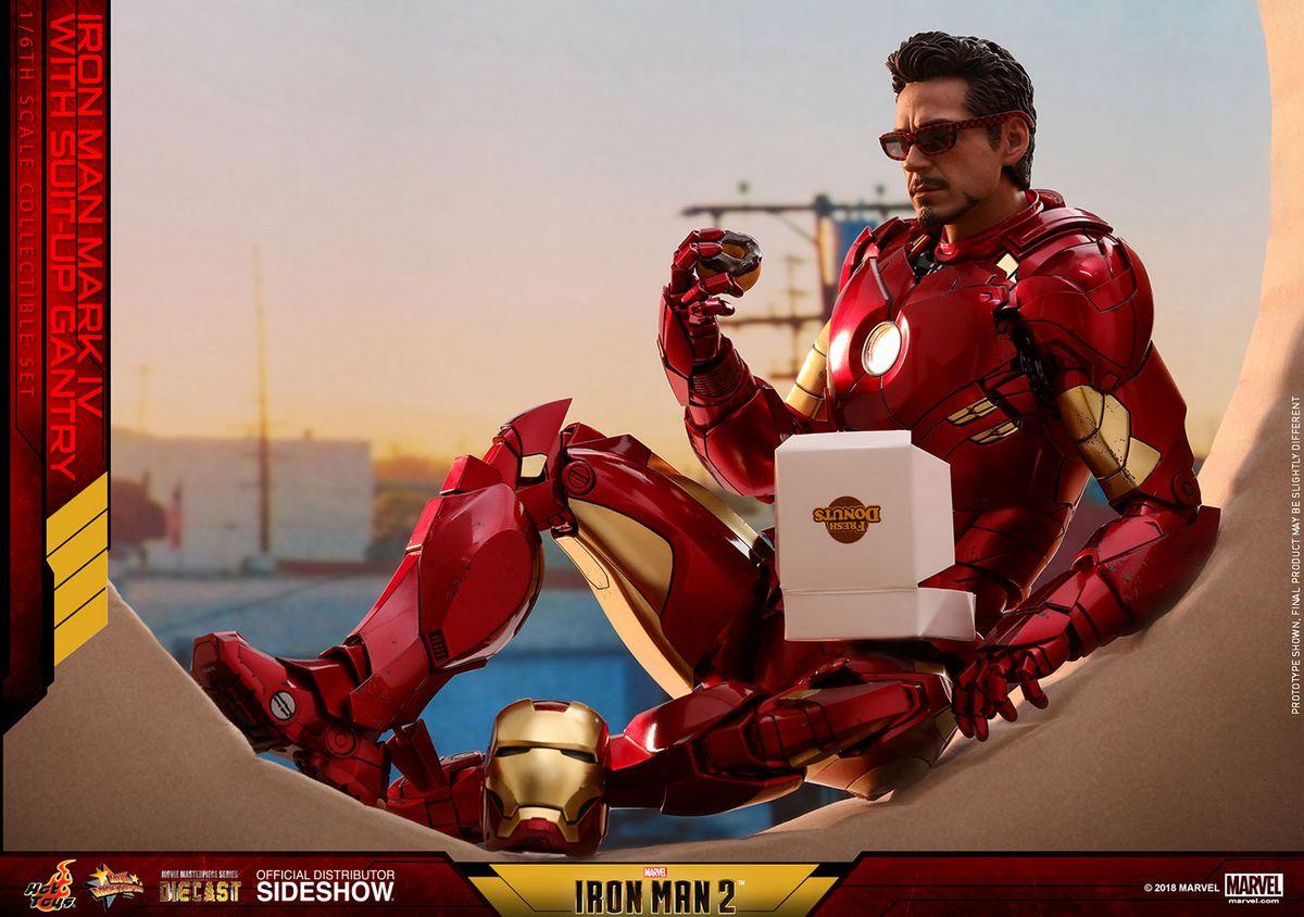 Imà Genes De Iron Man: Iron Man Mark IV & Suit-up Gantry 1/6 Scale