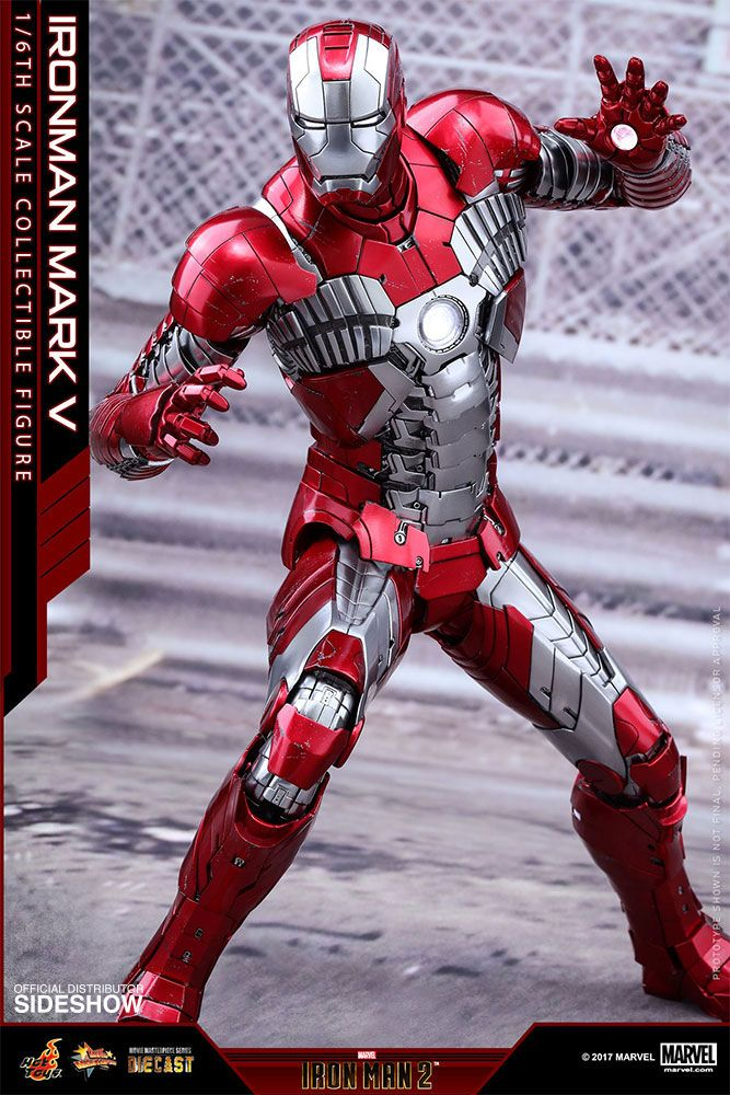 Iron Man 2 Iron Man Mark V 1 6 Scale Movie Masterpiece