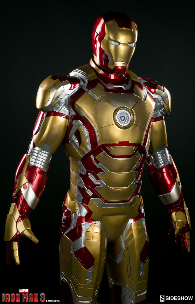 iron man 3 iron man mark 42 life size sideshow