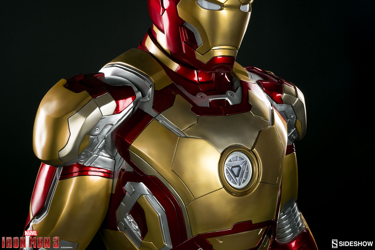 Iron man 3 iron man mark 42 life size sideshow collectibles statue movie mania - Image de iron man ...