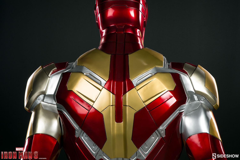 iron man 3 iron man mark 42 life size sideshow collectibles statue movie mania. Black Bedroom Furniture Sets. Home Design Ideas