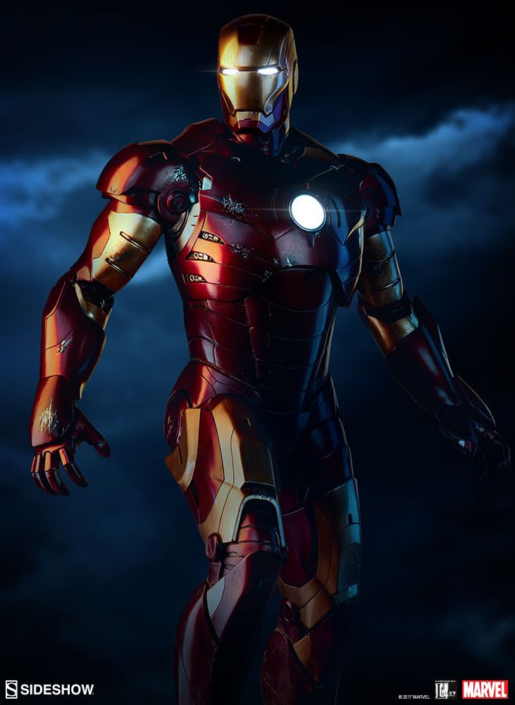 iron man iron man mark iii maquette sideshow collectibles statue movie mania. Black Bedroom Furniture Sets. Home Design Ideas