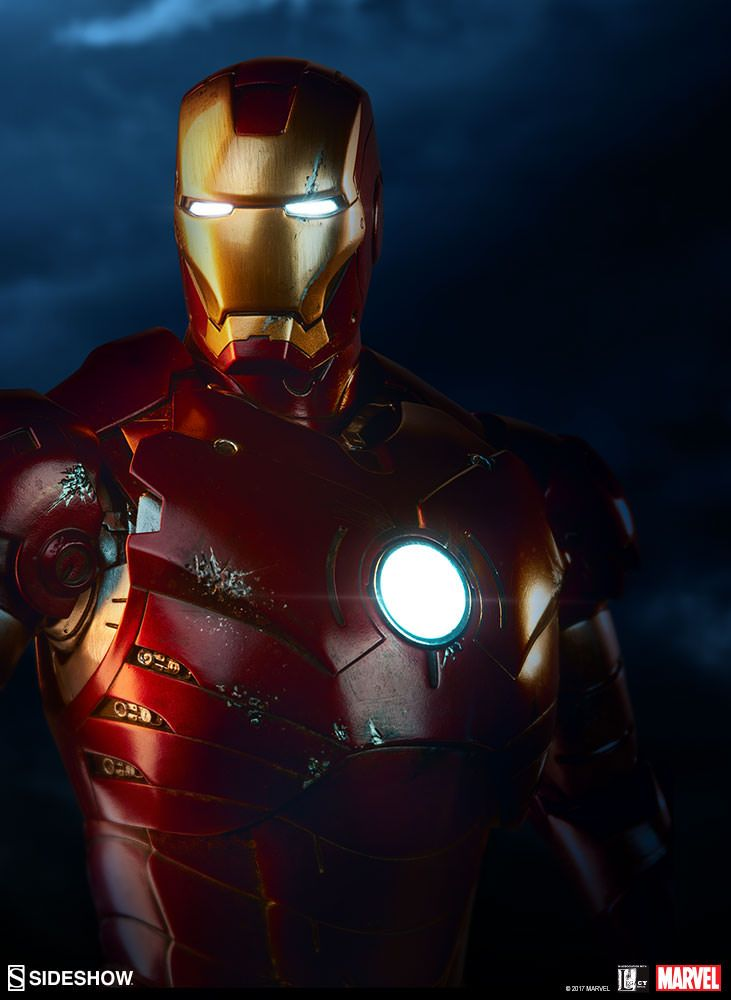 Iron Man - Iron Man Mark III - Maquette Sideshow ...