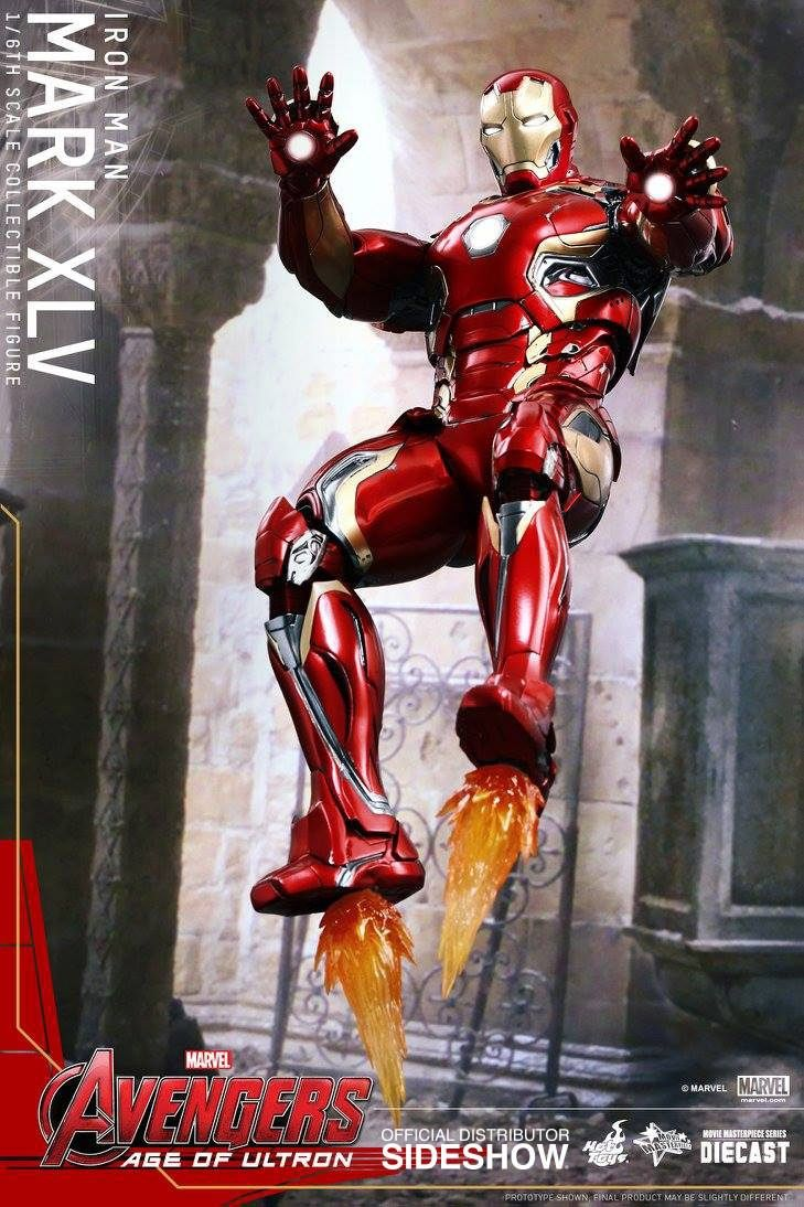Avengers Age of Ultron - Iron Man Mark XLV - 1/6 Scale Hot ...