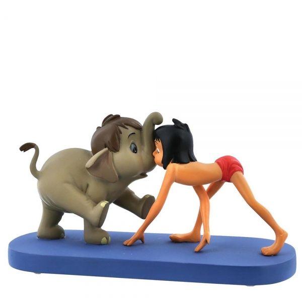 Jungle Book - Hathi JR. and Mowgli Figurine