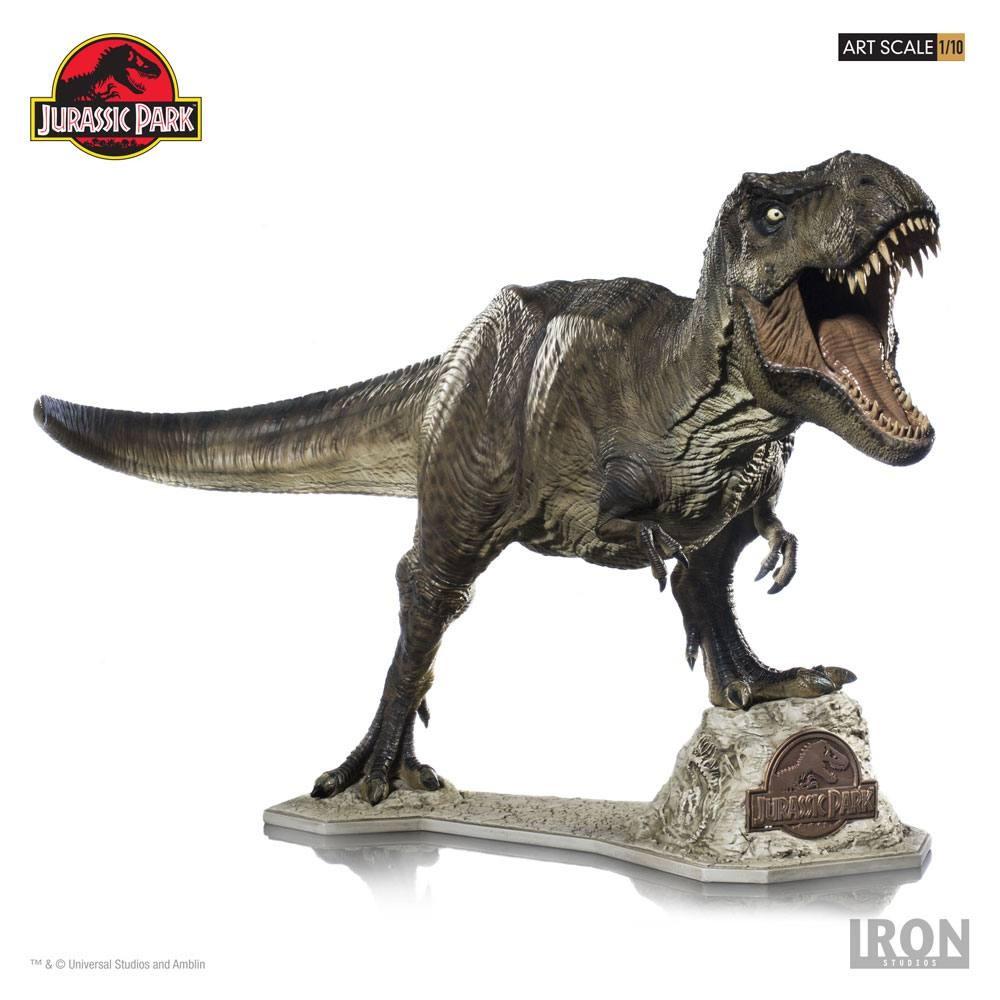 Jurassic Park Toys T Rex : Jurassic park t rex iron studios statue movie mania