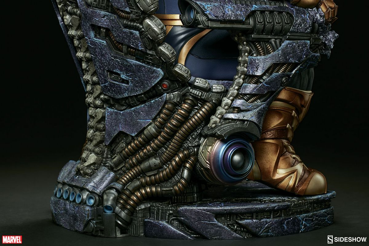 Marvel comics thanos on throne maquette sideshow for Maquette stand