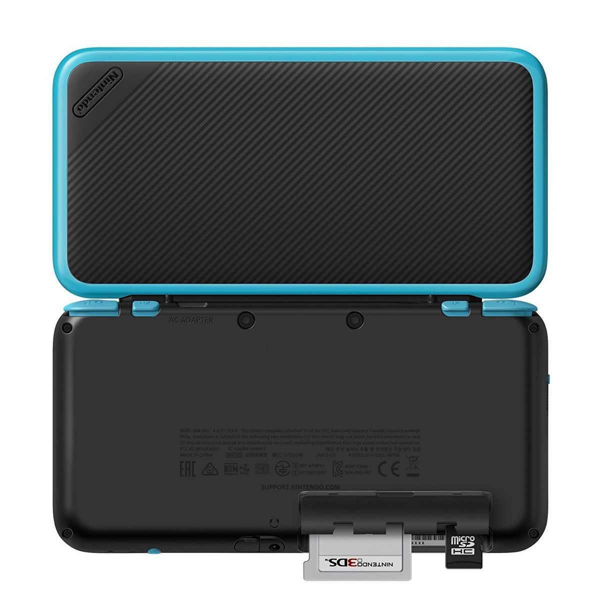 New 2ds xl black and turquoise console movie mania for Housse new 2ds xl