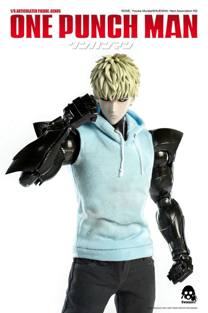 one punch man genos threezero 1 6 scale action figure. Black Bedroom Furniture Sets. Home Design Ideas