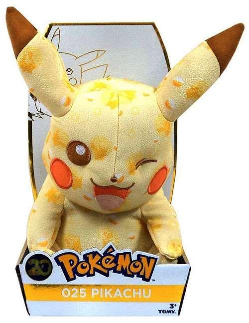 Pikachu Winking - Pokemon 20th Anniversary Plush