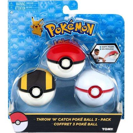 Pokemon - Throw N Catch Poke Ball 3 Pack