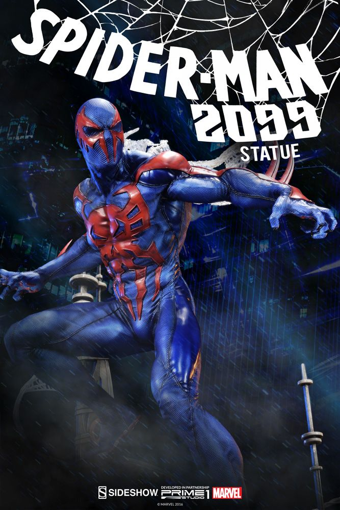 Spider-Man-2099-Marvel-Comics-Premium-Format-Sideshow-Collectibles-Statue11
