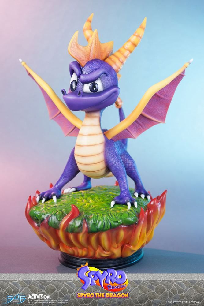 Spyro The Dragon First 4 Figures Statue Movie Mania