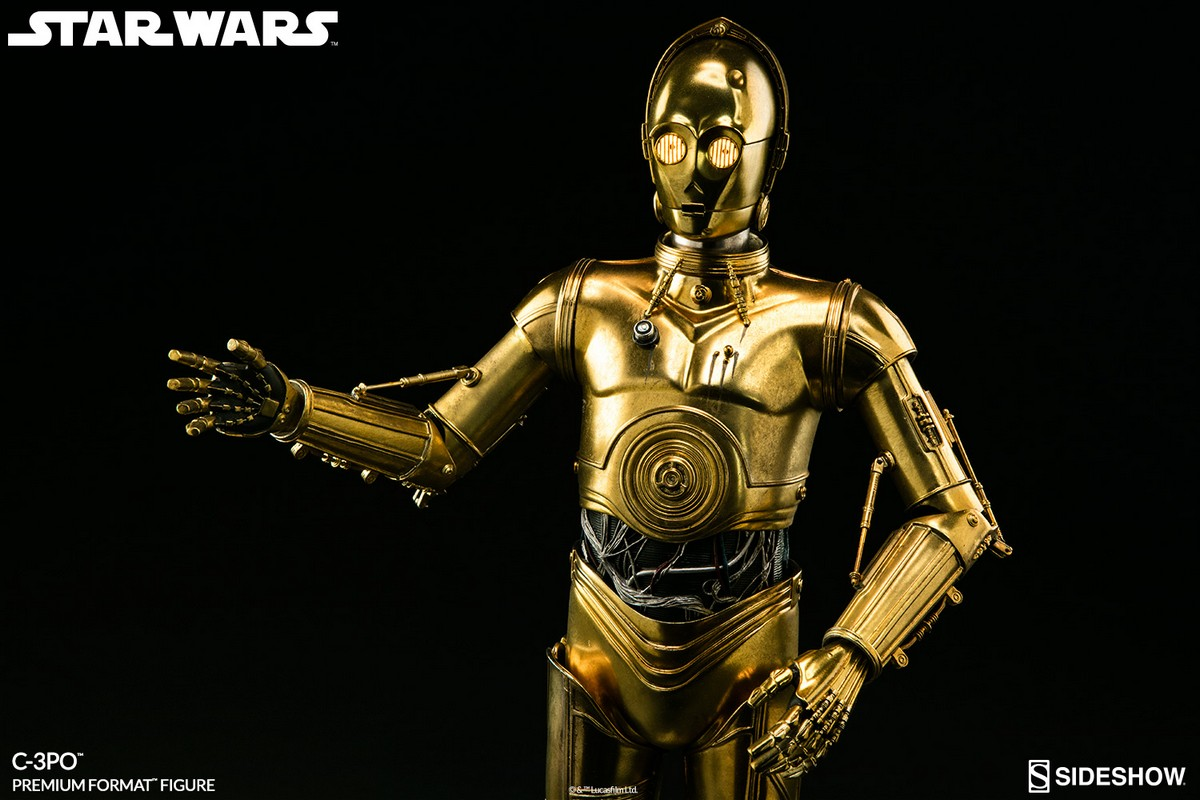 star wars c 3po premium format sideshow collectibles statue movie mania. Black Bedroom Furniture Sets. Home Design Ideas