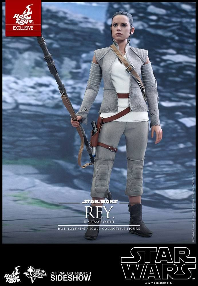 Hot Toys Star Wars VII Rey Resistance 1/6 Scale Action