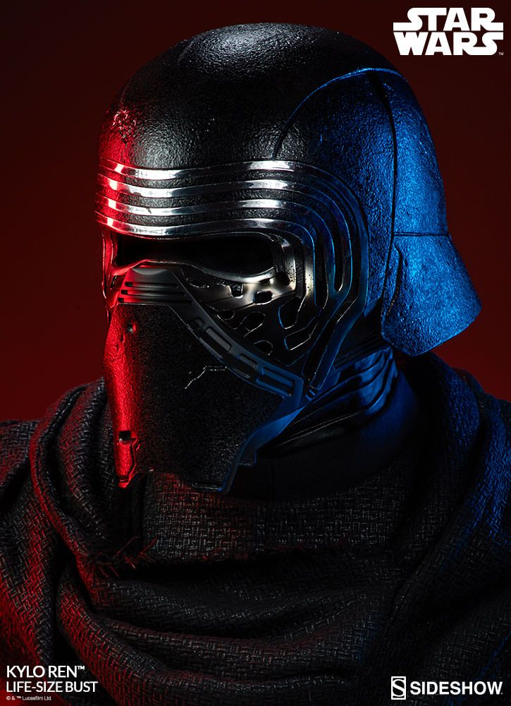 star wars - kylo ren life-size bust sideshow collectibles statue