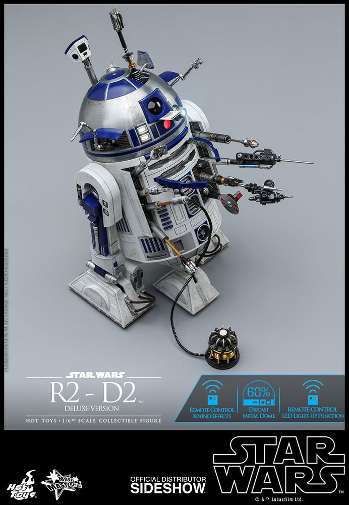 Star Wars R2-D2 (Deluxe Version) 1/6 Scale Movie Masterpiece Hot Toys  Action Figure