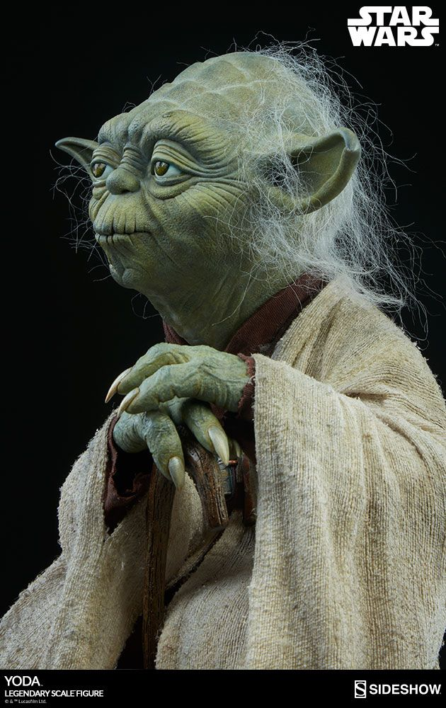star wars yoda legendary 1 2 scale sideshow collectibles statue