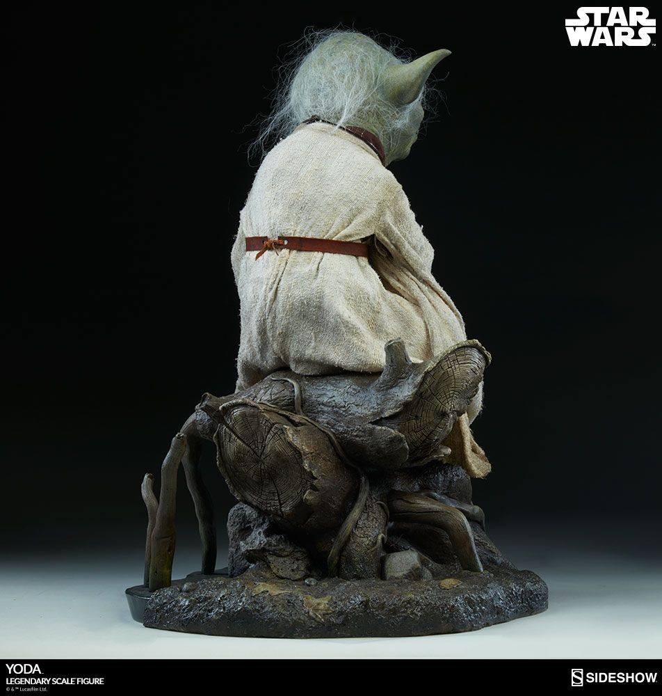 star wars yoda legendary 1 2 scale sideshow collectibles statue movie mania. Black Bedroom Furniture Sets. Home Design Ideas