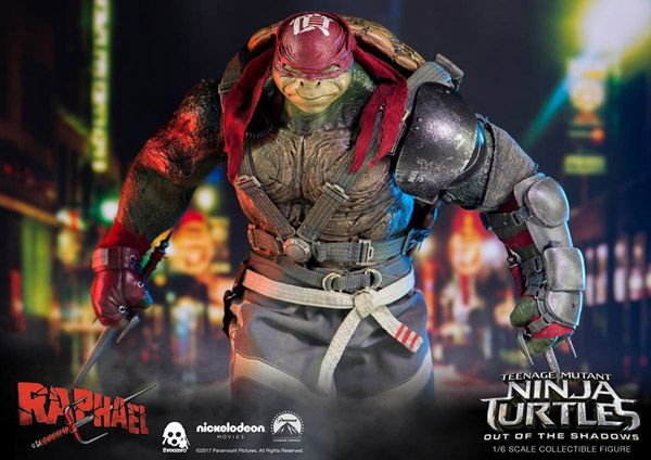 1:6 Scale Action Figure ThreeZero Teenage Mutant Ninja Turtles Out of The Shadows Raphael