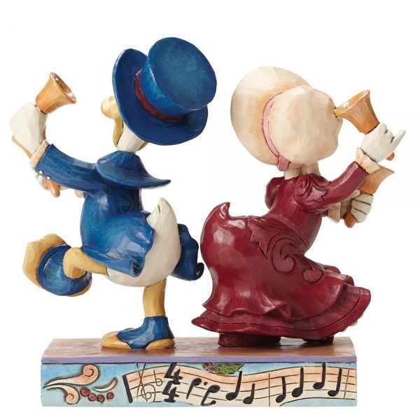 Victorian Donald and Daisy Duck - Chiming In Figurine