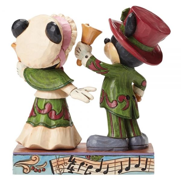 Victorian Mickey & Minnie Mouse Ringing in the Holidays Figurine