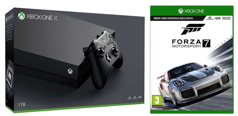 1tb xbox one x console with forza motorsport 7 movie mania. Black Bedroom Furniture Sets. Home Design Ideas