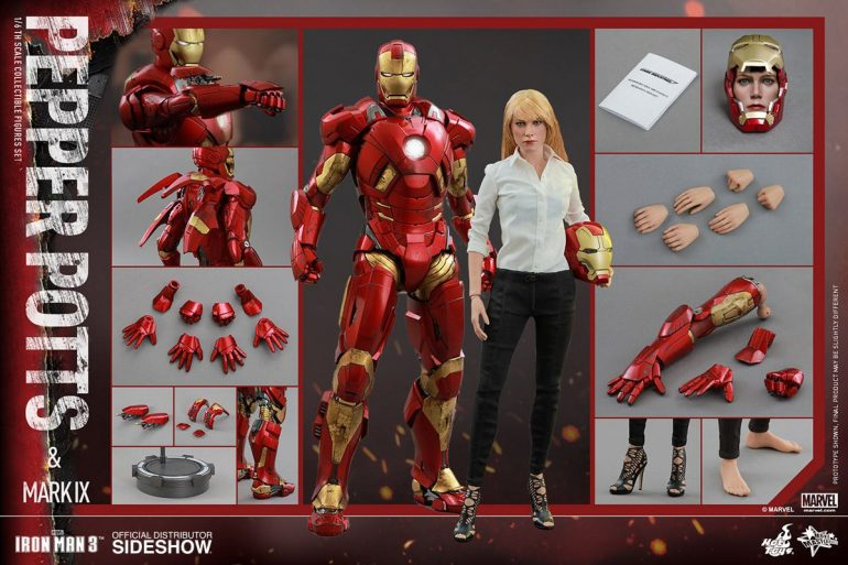 Iron Man Mark IX and Pepper Potts
